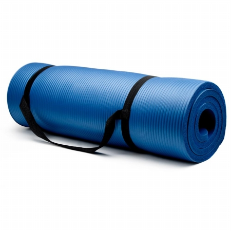 Extra Thick - .75 in Yoga Mat - Blue