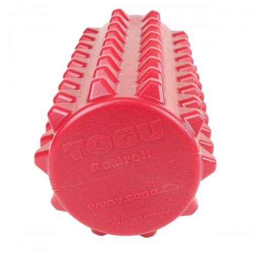 Fabrication Enterprises 30-4461R Togu Actiroll Spiked Massage Roller 12 x 5 in. Red