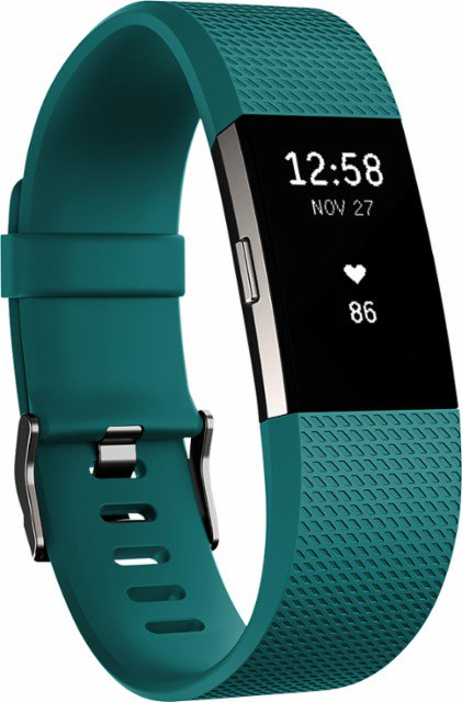 Fitbit FB407STES Charge 2 Activity Tracker Teal - Small