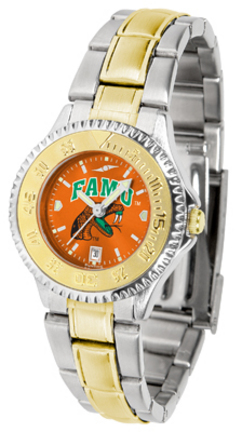 Florida A & M Rattlers Competitor AnoChrome Ladies Watch with Two-Tone Band