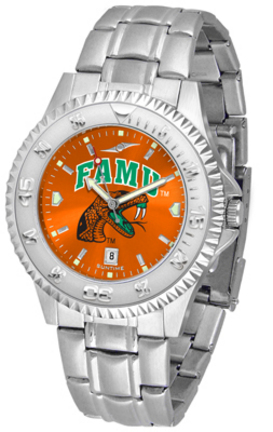 Florida A & M Rattlers Competitor AnoChrome Men's Watch with Steel Band