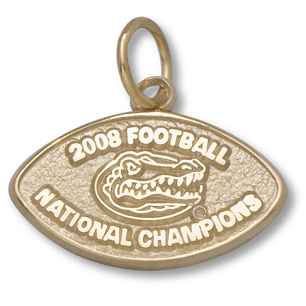 "Florida Gators 2008 Football National Champions 3/8"" Charm - 10KT Gold Jewelry"
