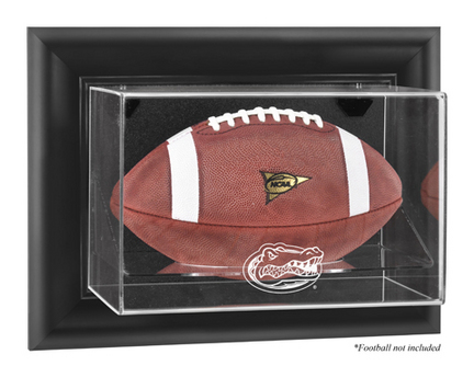 Florida Gators Black Framed Wall Mountable Logo Football Display Case