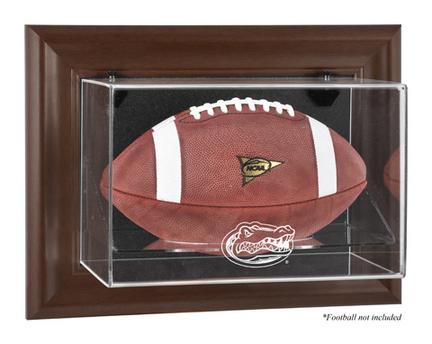 Florida Gators Brown Framed Wall Mountable Logo Football Display Case