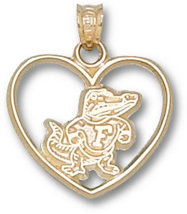 "Florida Gators ""Classic Albert Heart"" Pendant - 10KT Gold Jewelry"