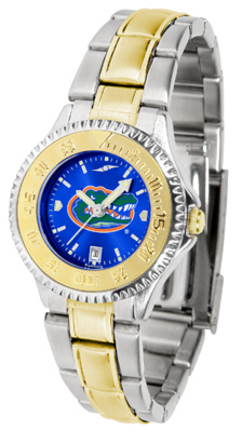 Florida Gators Competitor AnoChrome Ladies Watch with Two-Tone Band