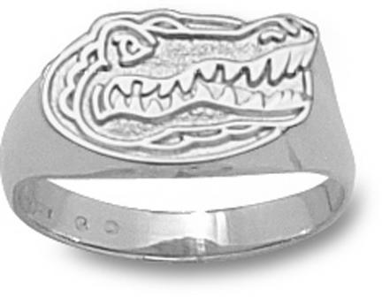 "Florida Gators ""Gator Head"" Ladies' Ring Size 6 1/2 - Sterling Silver Jewelry"