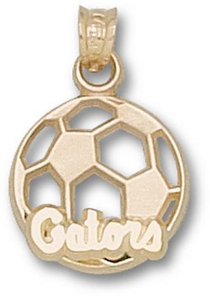 "Florida Gators ""Gators Soccer Ball"" Pendant - 10KT Gold Jewelry"