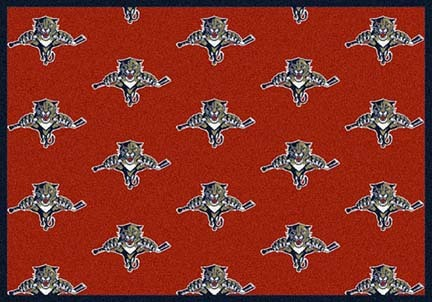 """Florida Panthers 2' 1"""" x 7' 8"""" Team Repeat Area Rug Runner"""