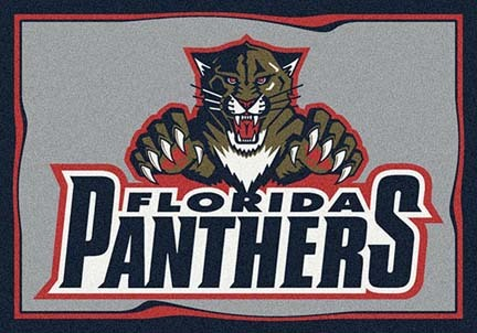 "Florida Panthers 3' 10"" x 5' 4"" Team Spirit Area Rug"