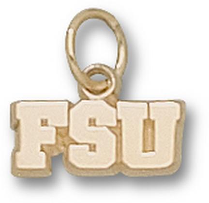 "Florida State Seminoles 3/16"" ""FSU"" Charm - 14KT Gold Jewelry"