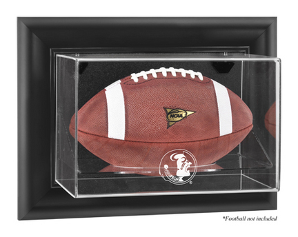 Florida State Seminoles Black Framed Wall Mountable Logo Football Display Case