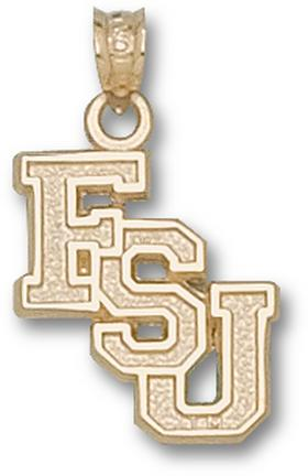 "Florida State Seminoles Cascaded ""FSU"" Pendant - 10KT Gold Jewelry"