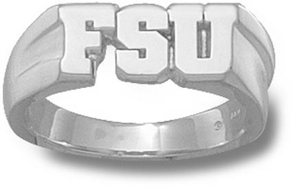 "Florida State Seminoles ""FSU"" 5/16"" Men's Ring Size 11 - Sterling Silver Jewelry"