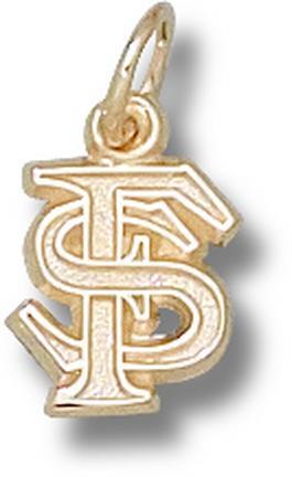 "Florida State Seminoles Interlocked ""FS"" 3/8"" Charm - 14KT Gold Jewelry"