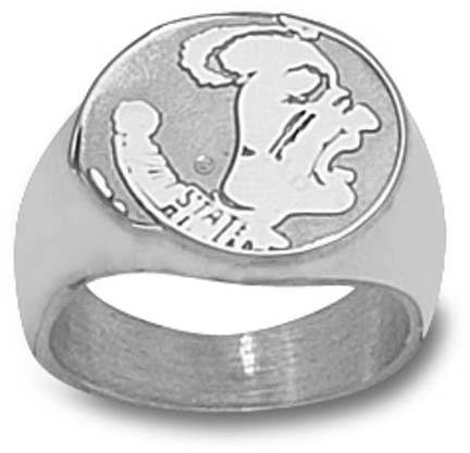 "Florida State Seminoles ""Seminoles"" Men's Ring Size 10 1/2 - Sterling Silver Jewelry"