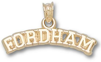 "Fordham Rams Arched ""Fordham"" Pendant - 10KT Gold Jewelry"