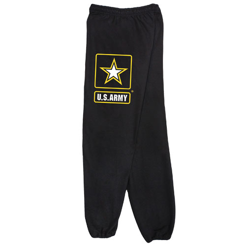 Fox Outdoor 64-757 XXL Mens United State Army Star One Sided imprint Sweatpant Grey - 2 XL
