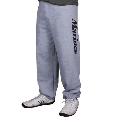 Fox Outdoor 64-76 S Mens Marines One Sided imprint Sweatpant Heather Grey - Small