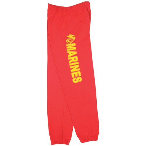 Fox Outdoor 64-765 M Mens United State Marines One Sided imprint Sweatpant Red - Medium