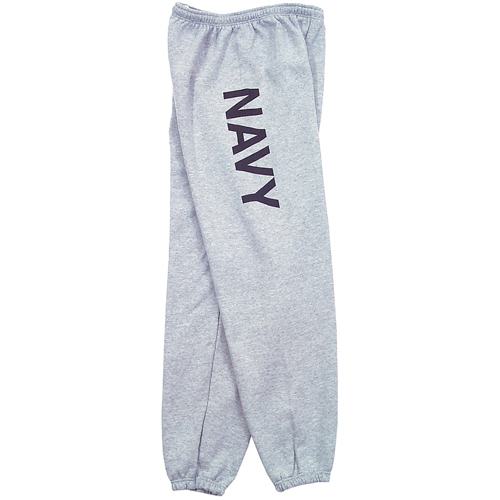 Fox Outdoor 64-77 M Mens Navy One Sided imprint Sweatpant Heather Grey - Medium