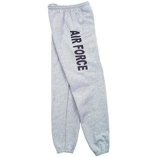 Fox Outdoor 64-78 L Mens Air Force One Sided imprint Sweatpant Heather Grey - Large