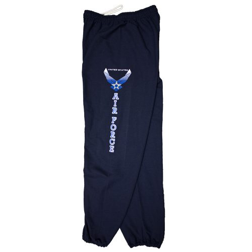 Fox Outdoor 64-785 M Air Force With Logo One Sided imprint Sweatpant Navy - Medium