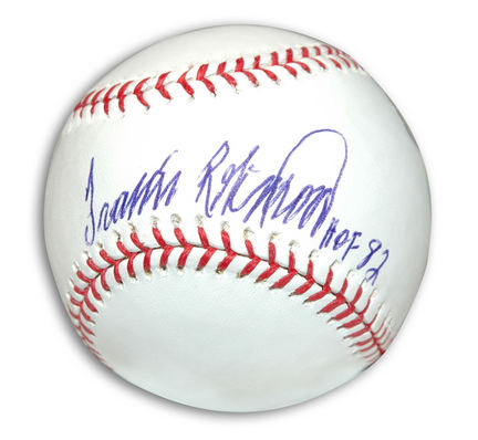"""Frank Robinson Autographed Baseball Inscribed with """"HOF 82"""