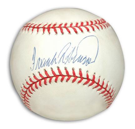 Frank Robinson Autographed Baseball