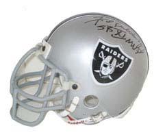"Fred Biletnikoff, Oakland Raiders Autographed Riddell Authentic Mini Football Helmet - Signed ""SB XI MVP"