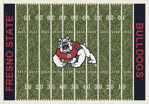 "Fresno State Bulldogs 3' 10"" x 5' 4"" Home Field Area Rug"