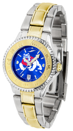 Fresno State Bulldogs Competitor AnoChrome Ladies Watch with Two-Tone Band