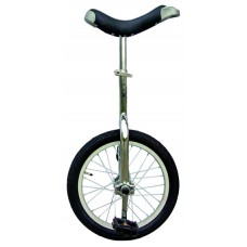 Fun 659310 Chrome 16 in. Unicycle with Alloy Rim