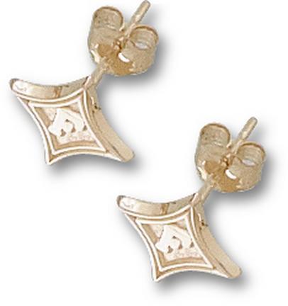 "Furman Paladins 3/8"" Diamond Post Earrings - 10KT Gold Jewelry"