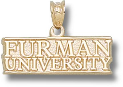 "Furman Paladins ""Furman University"" Pendant - 10KT Gold Jewelry"