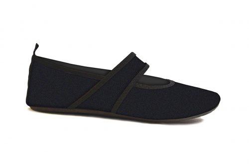 Futsole 2240 Travel Shoes Black Medium Fits Shoe Size 7-8