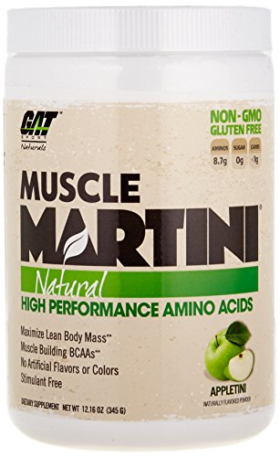 GAT 370116 Muscle Martini Natural BCAA Formula Apple - 30 Serving