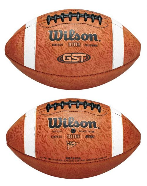 GST Game Ball 1003 Leather Football from Wilson