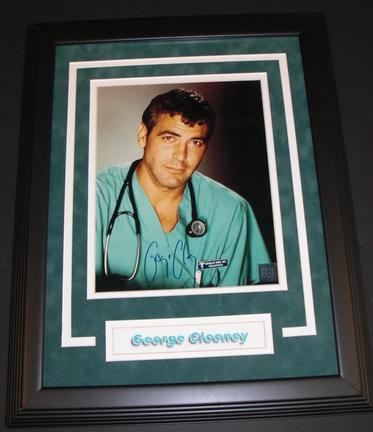 "George Clooney Autographed ""ER"" 8"" x 10"" Custom Framed Photograph"