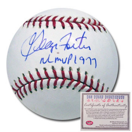 "George Foster Autographed Rawlings MLB Baseball with ""NL MVP 1977"" Inscription"