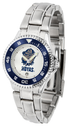 Georgetown Hoyas Competitor Ladies Watch with Steel Band