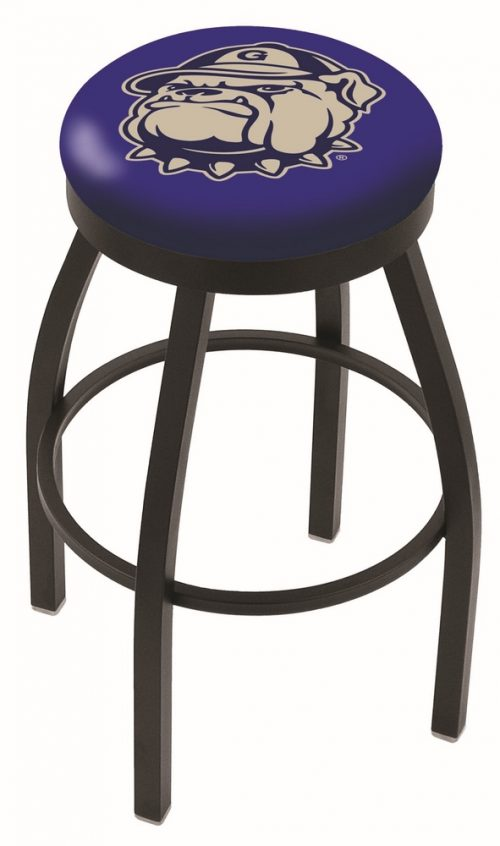 "Georgetown Hoyas (L8B2B) 30"" Tall Logo Bar Stool by Holland Bar Stool Company (with Single Ring Swivel Black Solid Welded Base)"