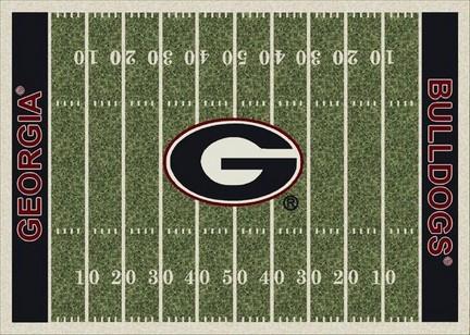 "Georgia Bulldogs 3' 10"" x 5' 4"" Home Field Area Rug"