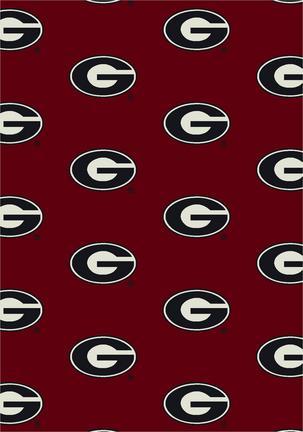 "Georgia Bulldogs 3' 10"" x 5' 4"" Team Repeat Area Rug"