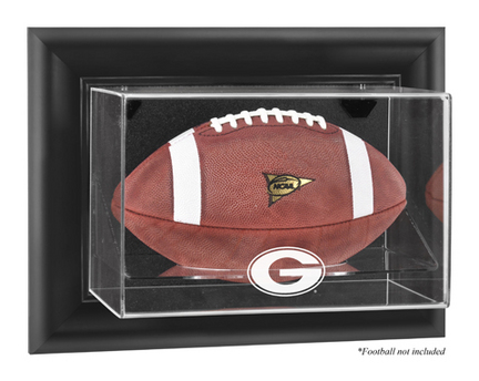 Georgia Bulldogs Black Framed Wall Mountable Logo Football Display Case