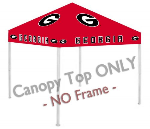 Georgia Bulldogs Canopy Top for use with the Rivalry 9' x 9' Ultimate Tailgate Canopy Tent Frame (Red)