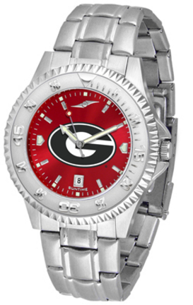 Georgia Bulldogs Competitor AnoChrome Men's Watch with Steel Band