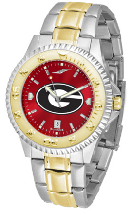 Georgia Bulldogs Competitor AnoChrome Two Tone Watch