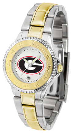 Georgia Bulldogs Competitor Ladies Watch with Two-Tone Band