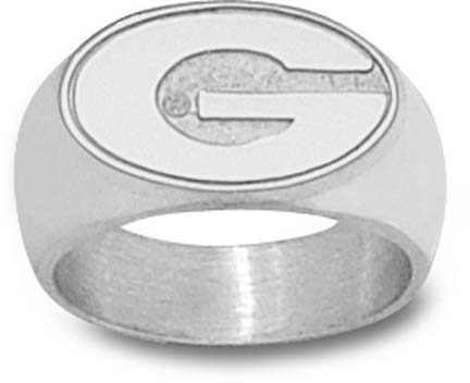 "Georgia Bulldogs ""G"" 3/8"" Ladies' Ring Size 6 1/2 - Sterling Silver Jewelry"